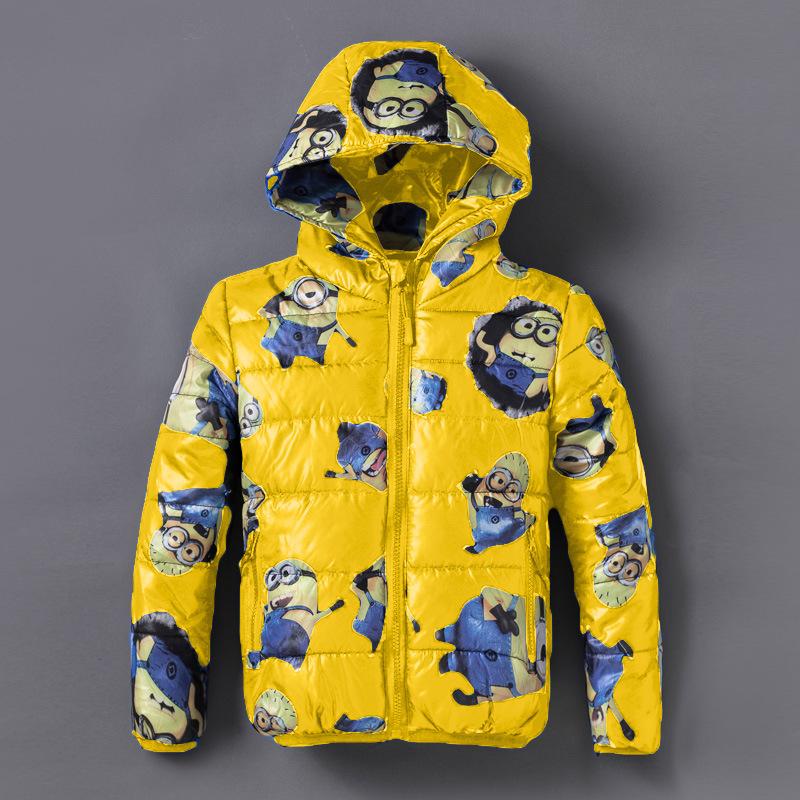 New 2015 Boys Minion Winter Coats,Outwear,Children Winter Warm Cartoon Cotton Warm Jacket,Baby Boys Fashion Cute Coat For 4-8T<br><br>Aliexpress