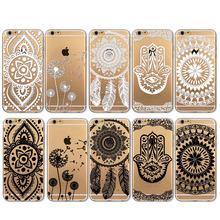 I6 черный и белый цветочные пейсли цветок мандала чехол для Apple , iPhone 6 6 s чехол ретро роскошный мода чехол крышка