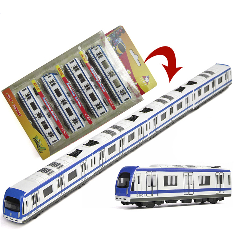 Simulation Miniature Subway 44.5cm Long Train Scale Metal Car Model Diecast Kids Pocket Toys Collection Best Gift(China (Mainland))