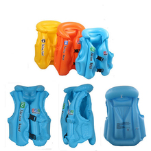 3 Size Child Safety thick PVC inflatable life jacket swimsuit swim Vest Kids Inflatable Life Vest Baby Swimming Vest Clothing(China (Mainland))