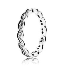 New Arrive European Rings Compatible With Pandora Jewelry Shiny Leaves Size #6-9 %100 925 Sterling Silver Women Ring JBDP1