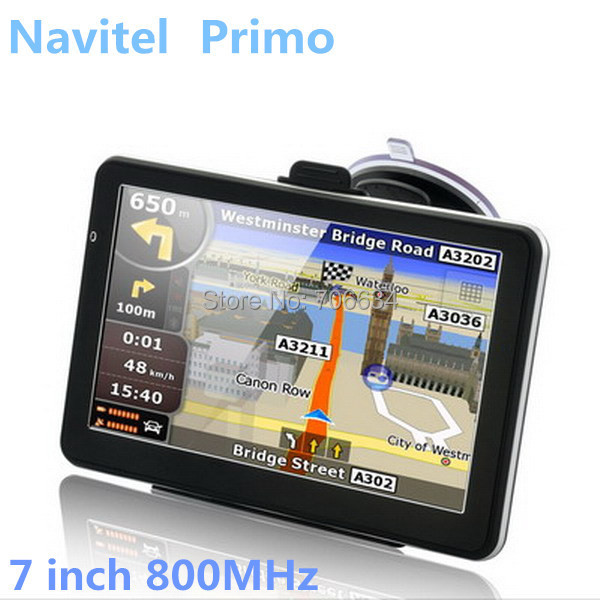 New 7 inch Car GPS Navigation 7006 800MHz Built-in 4GB 128MDDR Wince 6.0 with  Primo EU MAP, Navitel 8.5 for RU,UA,BY,KZ(China (Mainland))