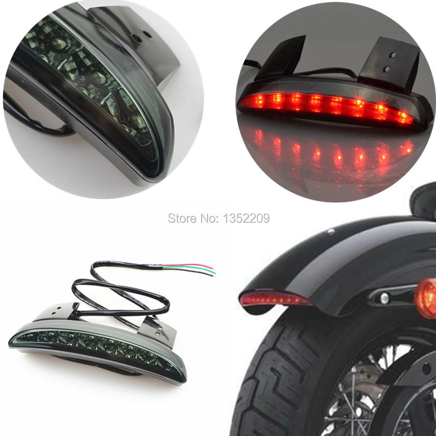 Smoke Chopped Fender Edge LED Tail Brake Running Light Chopped Tail Light Smoke Fits For Harley Sportster Iron XL 883 1200 New(China (Mainland))
