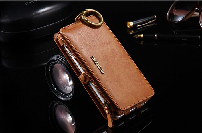 Floveme Original Luxury Leather Wallet Case for iphone 6 6S 6 Plus 5.5′ Flip Cover With Card Holder Phone Bag For iphone 7 7Plus