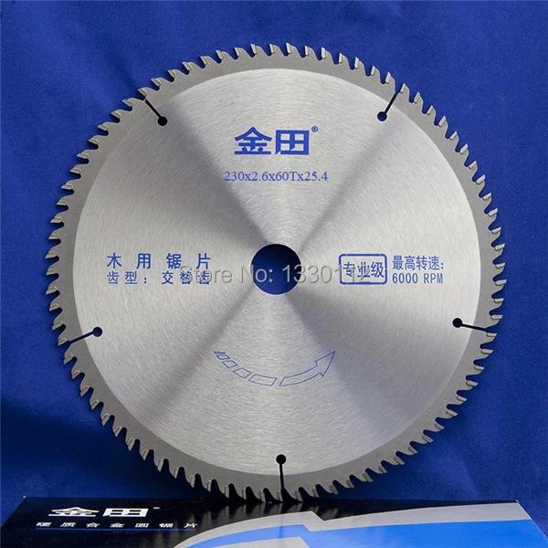 60T 1 pcs 230mm diameter 60 teeth woodworking wood table saw blades ...