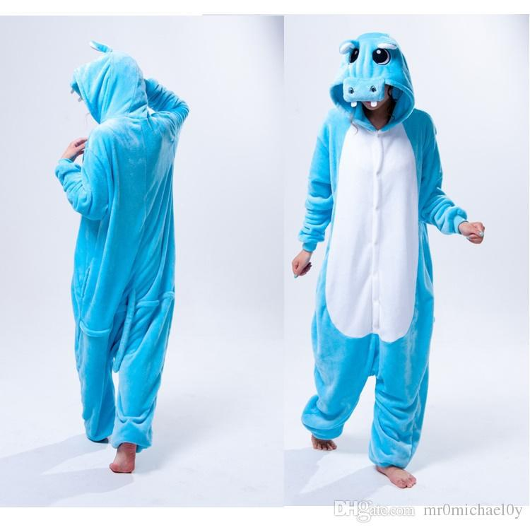 hippo one piece pajama onesies for adult cute animal