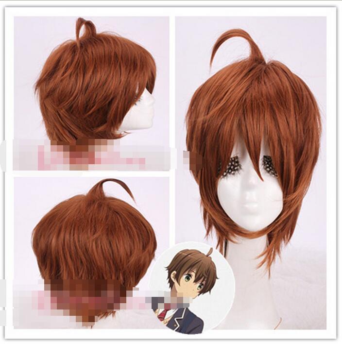Wholesale heat resistant LY free shipping Chuunibyou Demo Koi ga Shitai Togashi Yuta 30cm Short Brown
