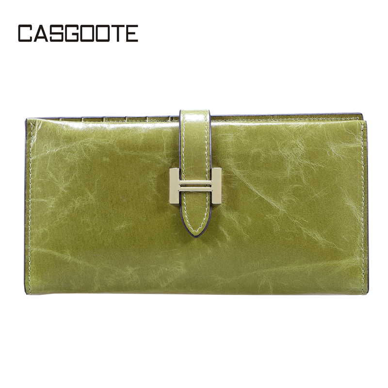 2014 new women  female wallet first layer of cowhide leather wallet waxing oil day clutch  long design wallet  handbag