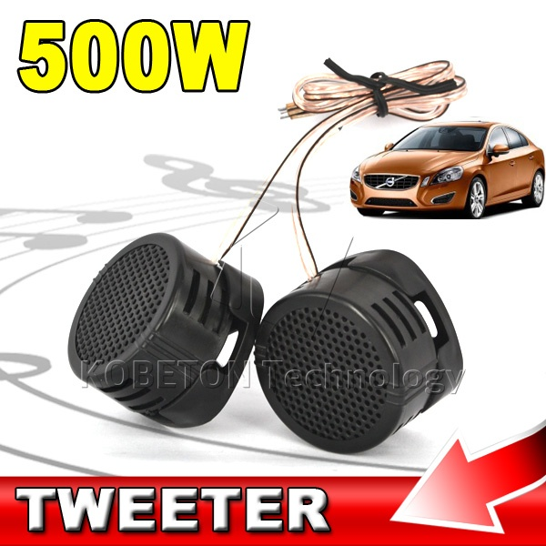Portable 500W High Power Mini Car Tweeter Loud Speaker Dome Audio Music High Pitch Voice Loudspeaker HF Components SpeakerS(China (Mainland))