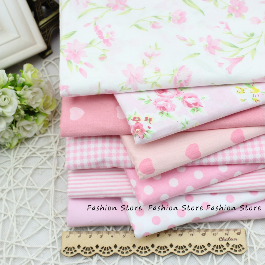 9 pcs flower farbic Rural floral cotton fabric textile bag fabric for Sewing patchwork craftsTilda Cloth 40*50cm Free Shipping(China (Mainland))