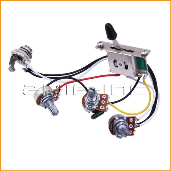 Wiring Harness Prewired with A500k B500k Pots for Stratocaster Strat Guitar(China (Mainland))