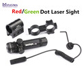 Tactical Hunting Red Green Laser Sight Scope 20mm Rail Picatinny Mount Gun Outside Adjust For Rifle