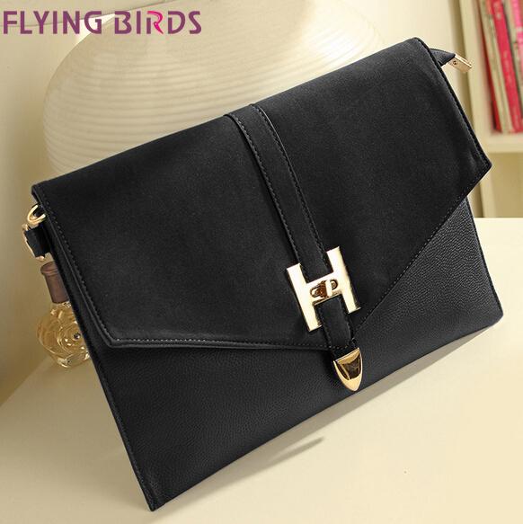 FLYING BIRDS! 2015 Hot selling Mixed colors matte leather shoulder bag women messenger bags handbag women clutch LS1032(China (Mainland))