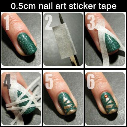 French Manicure Nail Art Tips Creative Nail Tape Stickers Masking tape Do pattern Nail Tools 17m 0.5cm,DIY Nail Decoration 40221(China (Mainland))