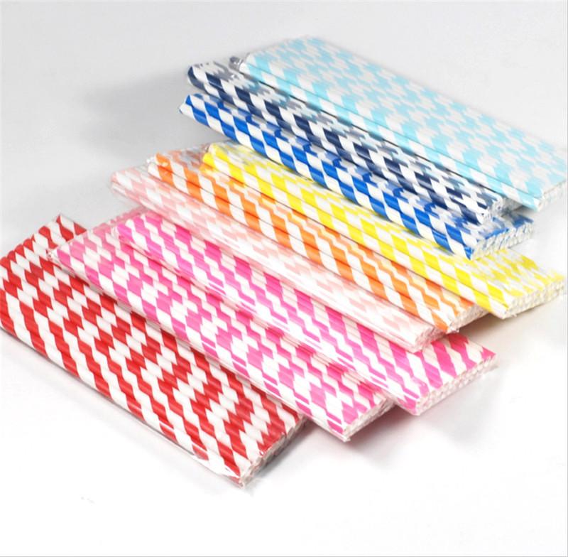 Free shipping wedding straws 100pcs disposable party supplies party drinking straws(China (Mainland))