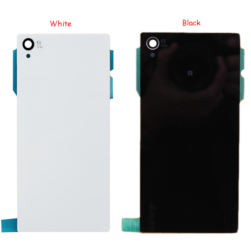 White/Black For Sony Xperia Z1 L39h C6902 C6903 Rear Back Glass Housing Cover Battery Cover Housing Free Shipping+Tracking No(China (Mainland))