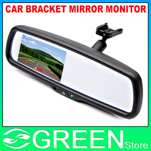 4 3 tft lcd voiture pare brise arri re voir rearview mirror moniteur avec support 2 entr e. Black Bedroom Furniture Sets. Home Design Ideas