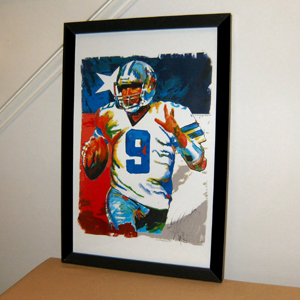 Tony Romo, Dallas Cowboys, Quarterback, Football, Sports -TOP Abstract oil painting-100% hand painted 24x36 inch-free shipping(China (Mainland))