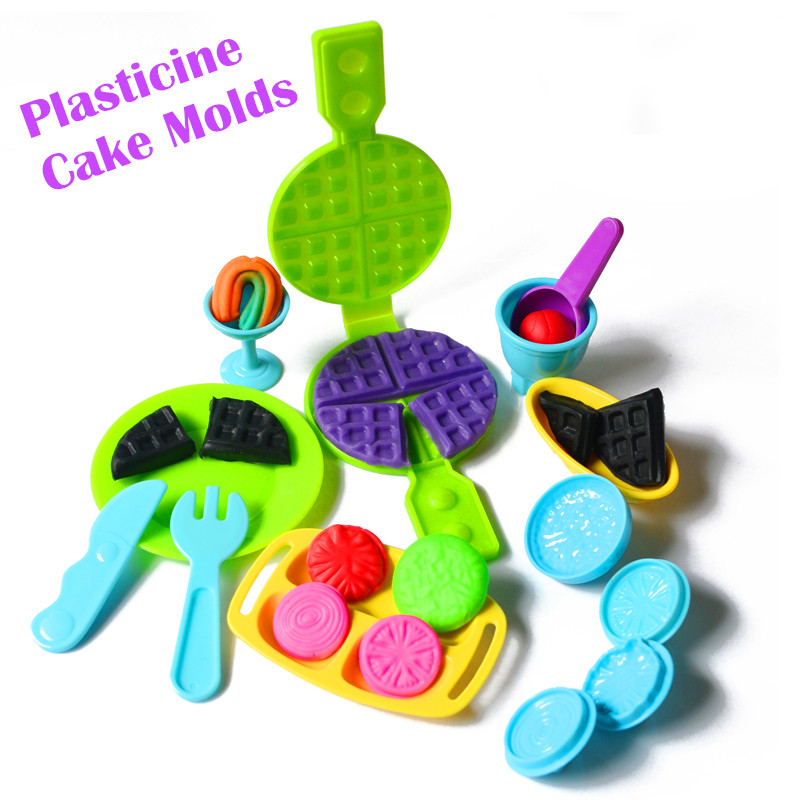 Fimo Polymer Clay Play Doh Plasticine Mold Tools Playdough Biscuit Cutlery Mold Toys for Kids Clay Polymer Tools Toys Children(China (Mainland))