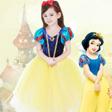 2016 Children's Snow White Princess Dress Girls' Dresses Children's Clothing Cosplay Christmas New Costume Dress Up Tutu Cloth