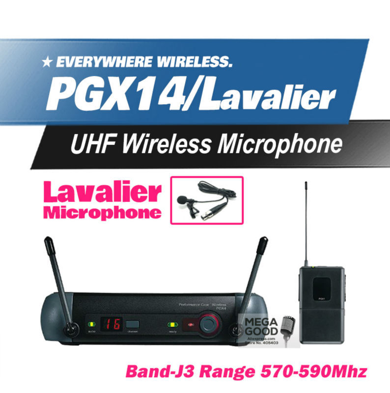 Free Shipping! PGX PGX14 WL93 UHF Professional Karaoke Wireless Microphone System with Lapel Lavalier Collar Clip Mic 570-590Mhz(China (Mainland))