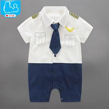 Детские Комбинезон Летний Ребенок Мальчиков Одежда Устанавливает Джентльмен Малышей Baby Boy Одежда Roupa Детские Комбинезоны Новорожденных детская Одежда(China (Mainland))