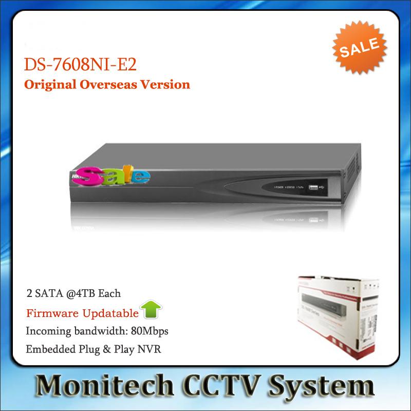 HIK English Version NVR for IP Camera CCTV System DS-7608NI-E2 8CH P2P 2 HDD SATA ONVIF<br><br>Aliexpress