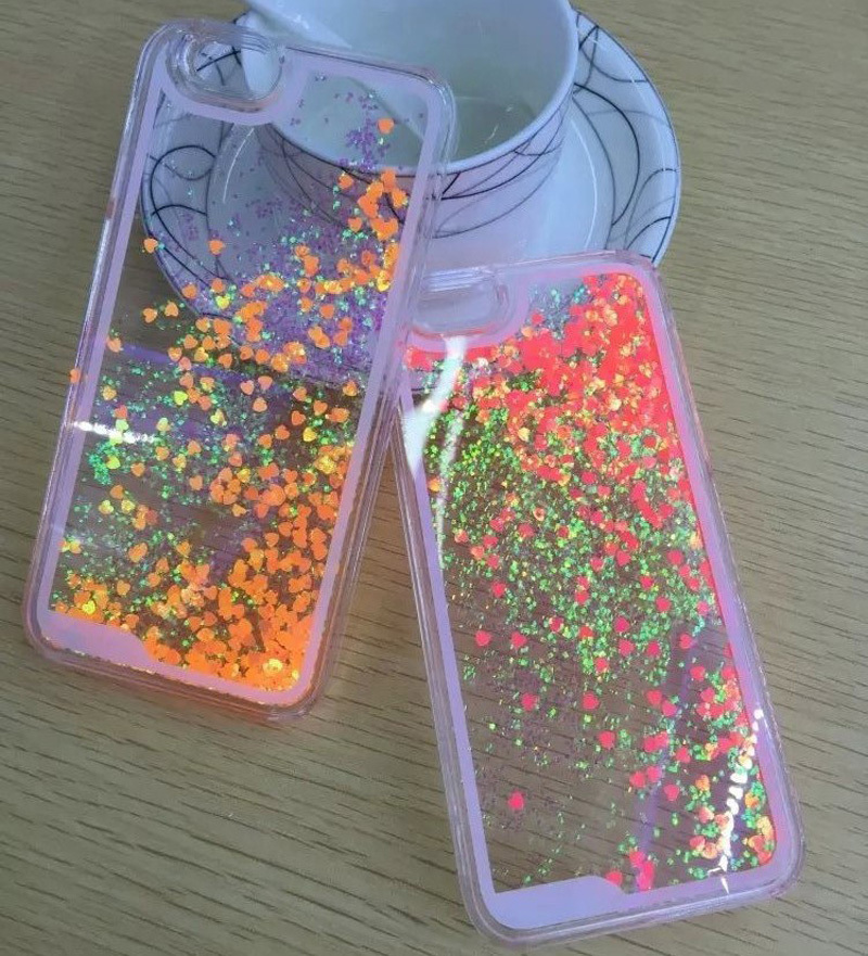 Discolor Twinkle Lover Glitter Flowing Liquid Clear Hard Plastic Cell Phone cases For iPhone 5 5S 5G Clear phone back cover(China (Mainland))