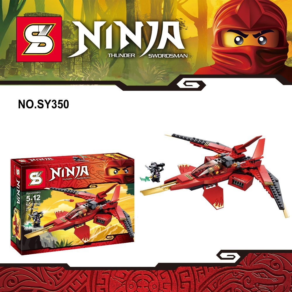 2015 SY350 Building Blocks Ninja Heroes Thunder Sworosman Cool Red Battleship Gift For Children Compatible With Le Go(China (Mainland))
