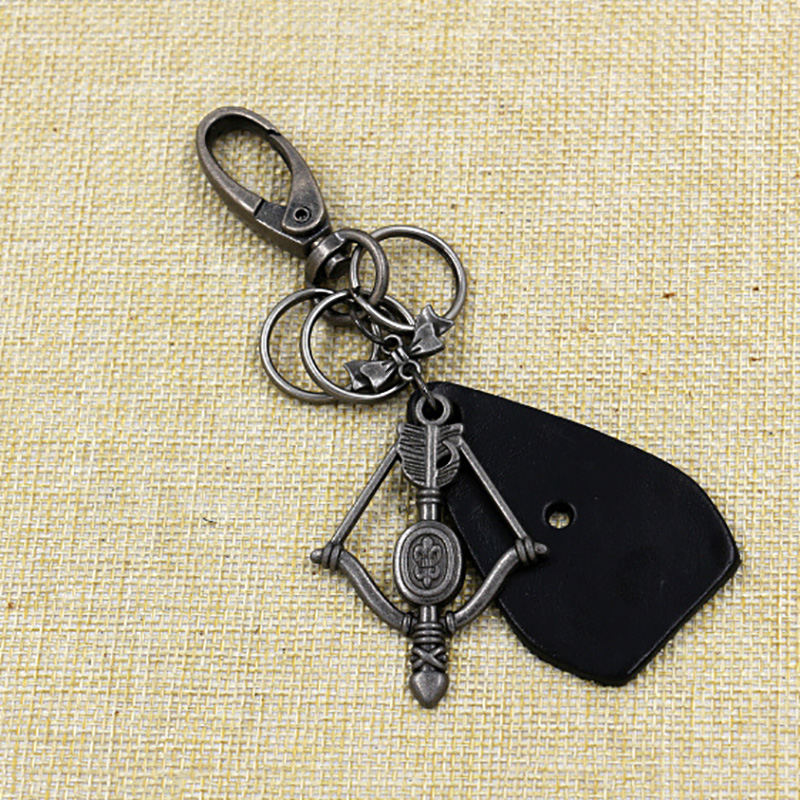 Men's Key Accessories cheap car Vintage Charm Creative Dangle Cupid Arrows Keychain bijuteria Jewelry Gifts