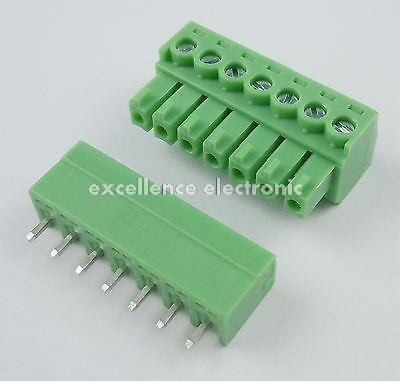 Фотография 100 Pcs 3.81mm Pitch 7 Pin Straight Screw Pluggable Terminal Block Plug Connector 15EDG