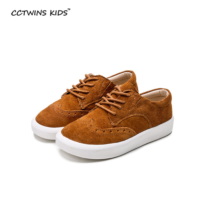 CCTWIN KIDS spring baby oxford shoe sneaker children genuine leather shoes boys brand shoes girls fashion shoes rome black brown