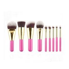 2016 new fashion 9Pcs Wood Handle Makeup Eyeshadow Foundation Brush Set Concealer Cosmetic Pro Kabuki Blush brush set