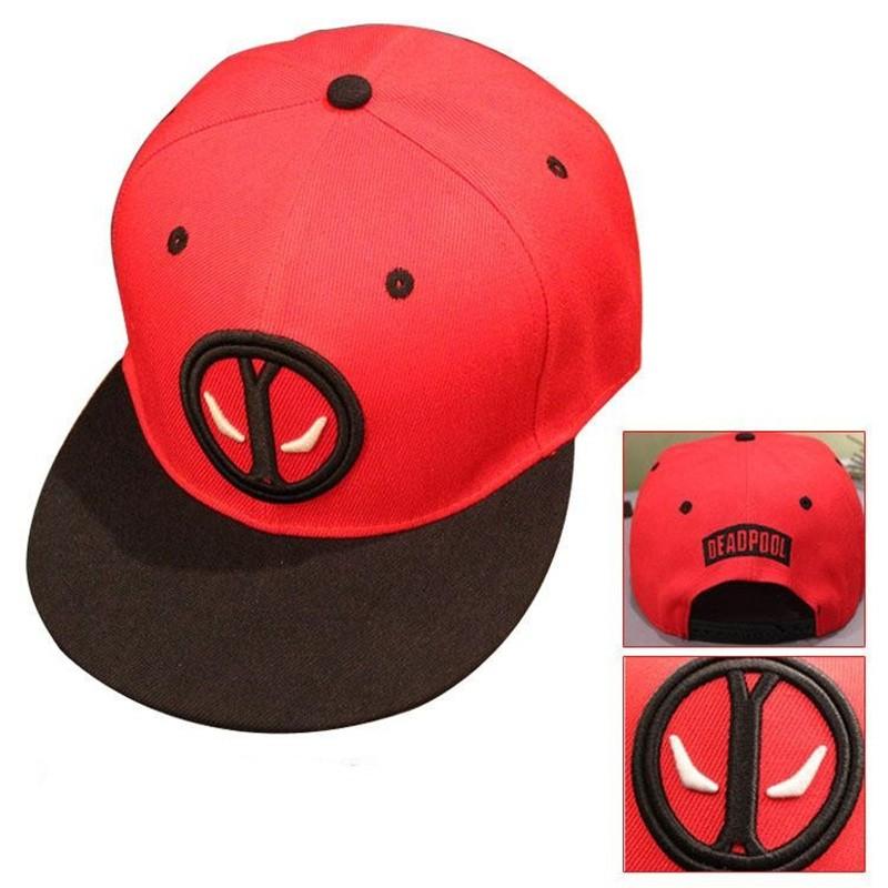 2016 новинка дэдпул хип-хоп Snapback лета шляпа бейсболка для мужчин женщины Gorras свободного покроя кости