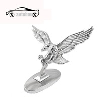 Silver Tone 3D Flying Eagle Adhesive Sticker Decal for Auto Car styling detector Discount 50(China (Mainland))