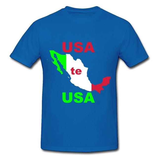 Best sell print short sleeve men t shirt usa te usa mexico for T shirt printing usa