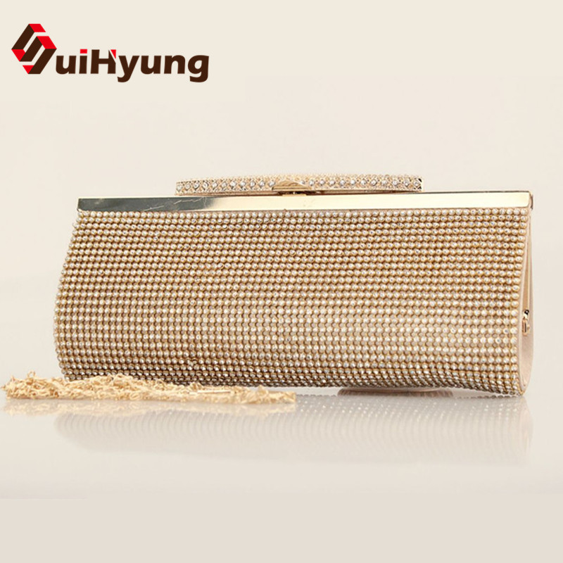 Hot Style 2016 New Women's Banquet Day Clutches Luxury Sided Full Diamond Evening Bag Wedding Party Handbag Purse Shoulder Bag(China (Mainland))