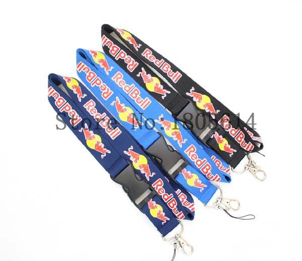 NewArrival BullDrink Mixcolor Logo Lanyard With Buckle,ID Holder Key chains CellPhone Charms Detachable Neck Strap Lanyards #R53(China (Mainland))
