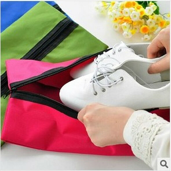 Outdoor travel Nylon waterproof shoes covers Solid Brief design shoes storage bag Free shipping<br><br>Aliexpress