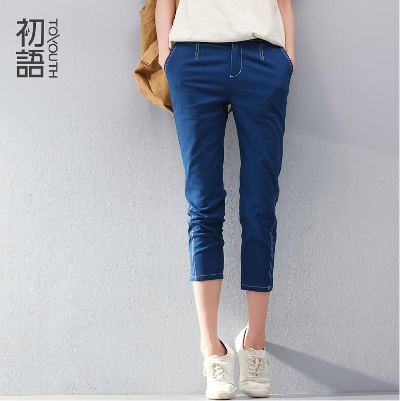 To Youth Casual Women Summer Capris Fashion Casual Slim Fit Skinny Capri Pants Female Harem Trousers Pencil PantsОдежда и ак�е��уары<br><br><br>Aliexpress