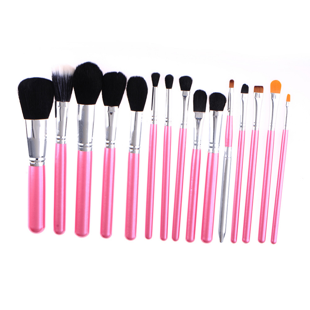 Professional Soft Makeup Brush 15pcs/set Powder foundation Concealer Brush Lips And Eye Makeup Brush Tools Kits(China (Mainland))