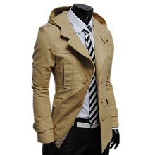 2015 mens winter jacket men's hooded wadded coat thicken outerwear male slim casual cotton-padded jacket men 3 colors M~XXL