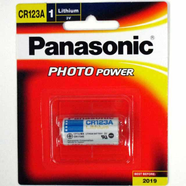 Hong Kong Free Tracking POST CR 123A CR123A 123A , New & Genuine non-Rechargeable Lithium Battery for Panasonic 1pc card pack.(China (Mainland))