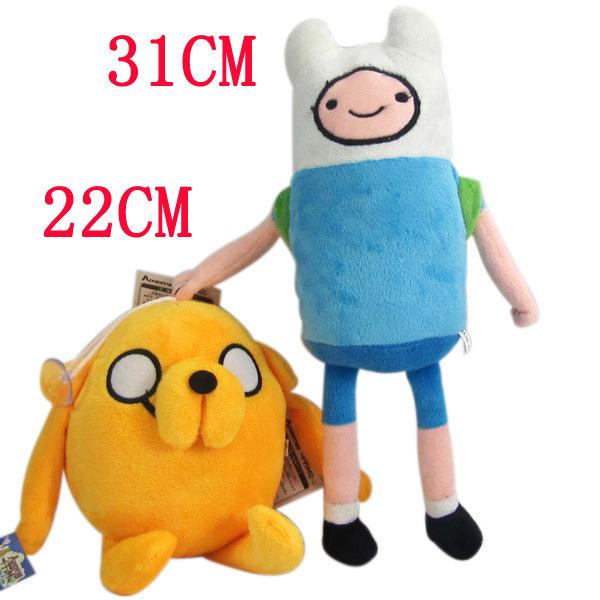 Anime Adventure Time Finn Jake Plush Doll 12.5inch soft figure Toys Stuffed animals Movice Cartoon Toy Anime plush Free Shipping(China (Mainland))