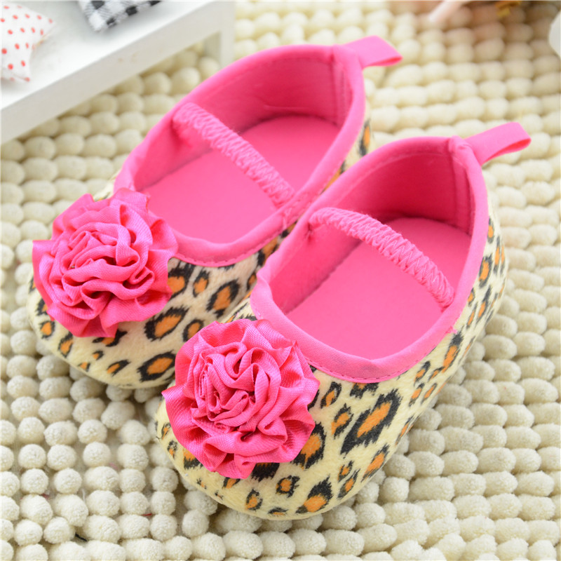 New Born Baby Infant Girls Shoes Soft Bottom Shoes Leopard Flower Toddler Shoes Baby Shoes<br><br>Aliexpress
