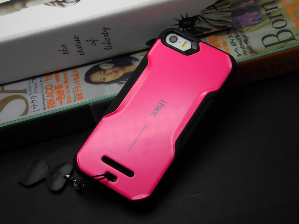1pc for iPhone 4s case with stand hard plastice with silicone TPU soft cover case for iphone 4s 4 5S 5