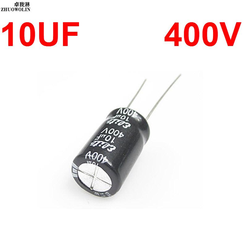 10PC/Lot 10UF 400V Electrolytic Capacitor SIZE 10X17MM YXSMDZ2590(China (Mainland))