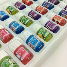 High Quality 36pcs/lot Water-soluble 100% Pure Lavender Essential Oils Pack Set for Aromatherapy With 12 Kinds of Fragrance(China (Mainland))