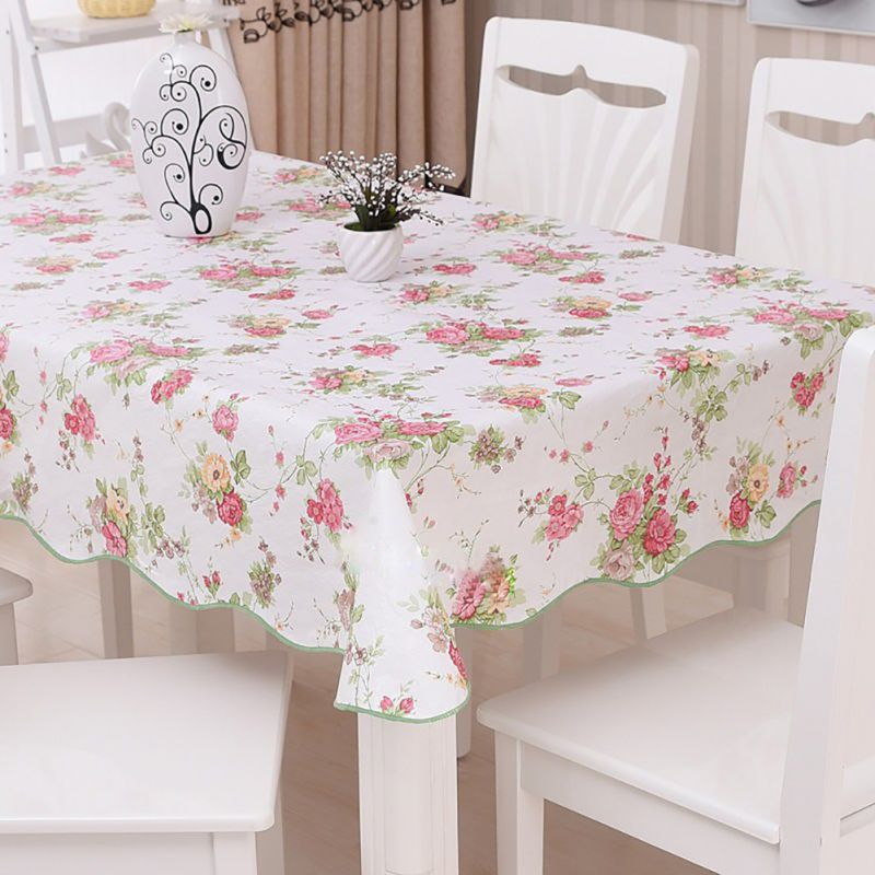 Waterproof & Oilproof Wipe Clean PVC Vinyl Tablecloth Dining Kitchen Table Cover Protector OILCLOTH FABRIC COVERING(China (Mainland))