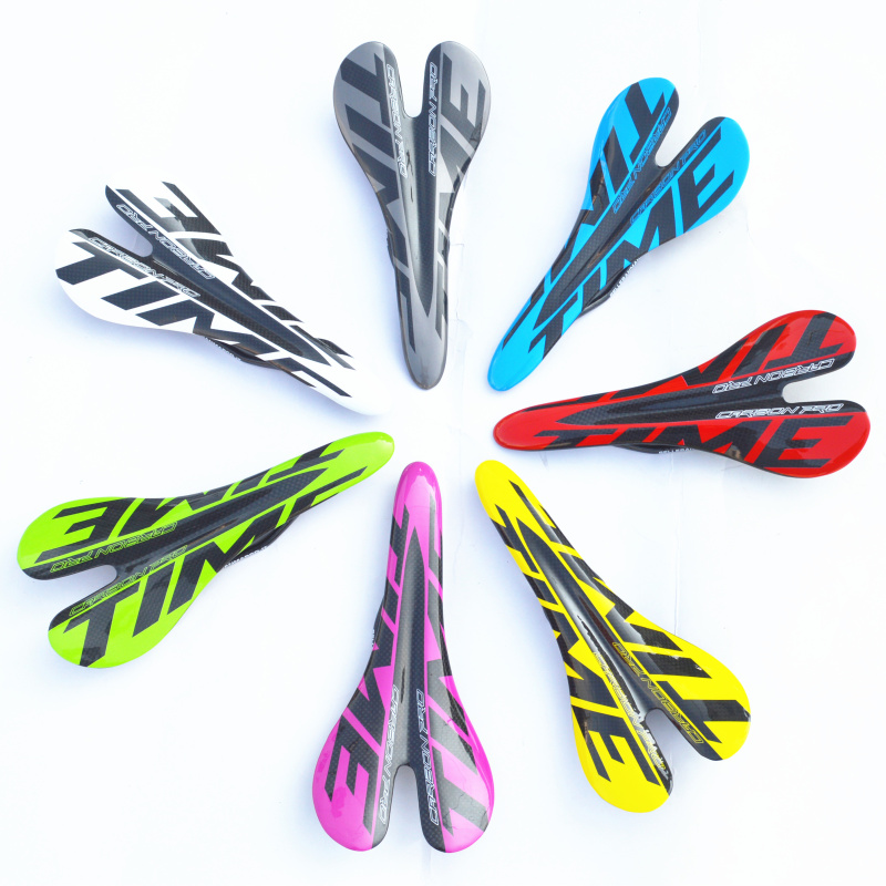 bicycle glossy carbon saddle Time 3k full carbon fibre cycling MTB road bike seat bicyle parts 95g(China (Mainland))